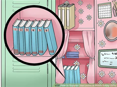 How to Organize Your Locker in Middle School (Girls) 13 Steps