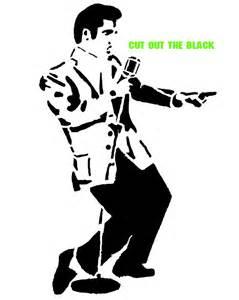 Elvis Silhouette Stencils