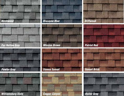 roofing colors architectural roofing shingles architectural roofing
