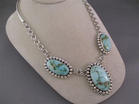 Artie Yellowhorse Royston Turquoise Necklace - Turquoise ...