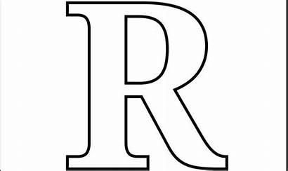 Block Letters Alphabet Clip Printable Coloring Pages