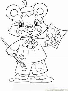 bear cub coloring pages - bear cub coloring page free preschool study coloring