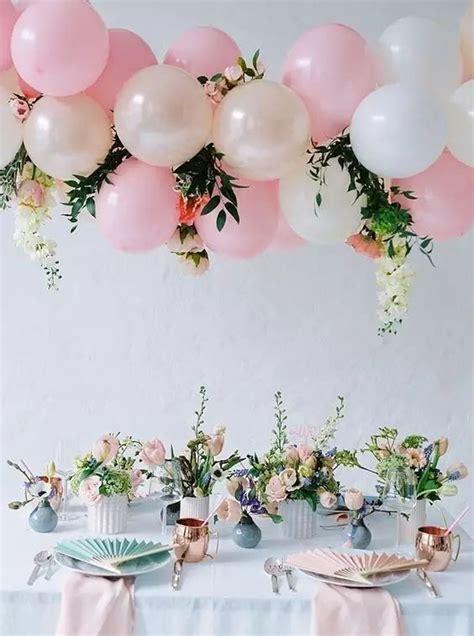pink and white balloon decorations 50 totally irresistible wedding balloon ideas brasslook