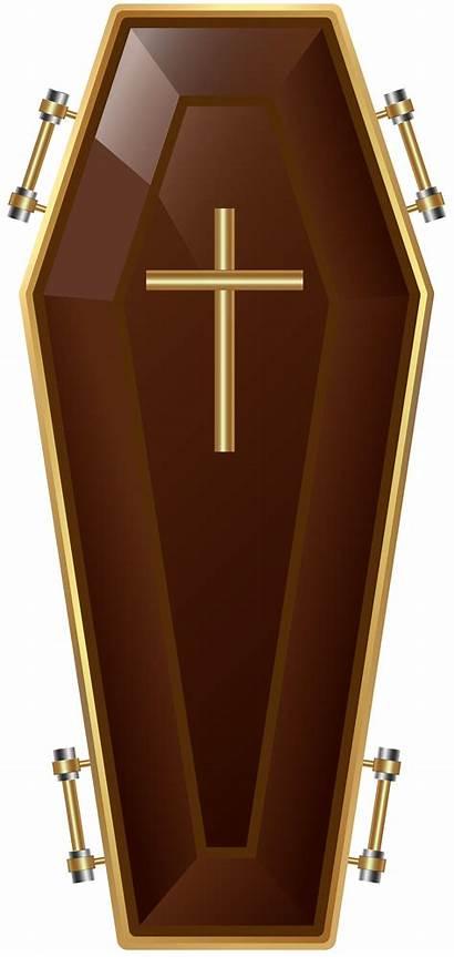Coffin Transparent Brown Clipart Yopriceville