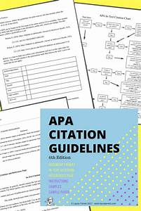 Apa Citation Guidelines For Secondary Students  Easy