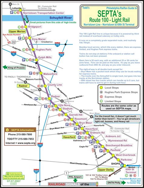 septa s norristown high speed line railfan guide