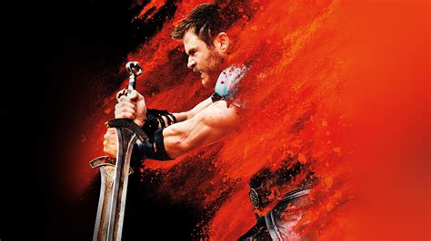 thor ragnarok red film marvel hero art illustration