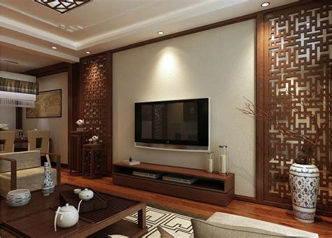 interior wall design interior design chinese style woodcarving tv wall interior design