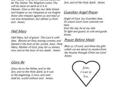 prayers    sheet   images printable