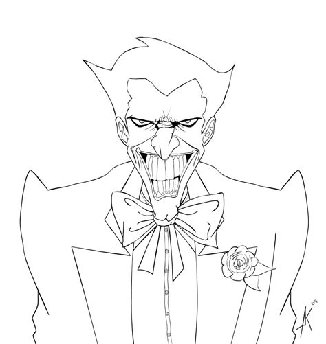 joker lineart  heartlessomen  deviantart