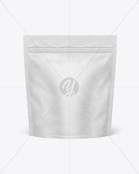 Clear plastic rice bag mockup. Kraft Paper Stand-up Pouch Mockup in Pouch Mockups on ...