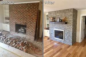How to resurface a fireplace quickly easily creative for Resurface fireplace with stone