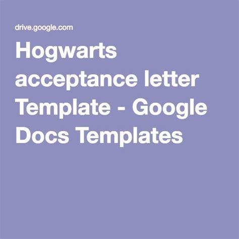 hogwarts acceptance letter template google docs