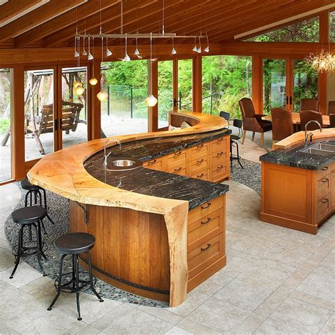 kitchen island with bar kitchen design trends set to sizzle in 2015 5197