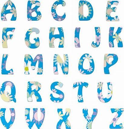 Alphabet Floral Alphabets Letters Transparent Abc Background