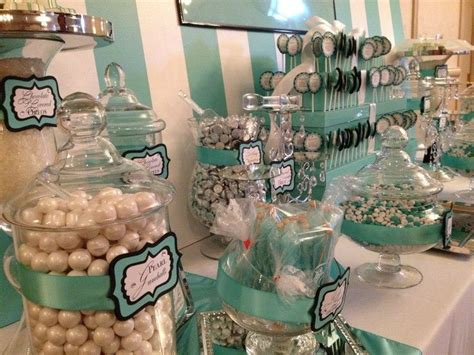 tiffany buffet table ls tiffany inspired candy buffet in teal and white candy