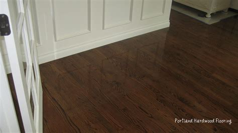 hardwood flooring portland oak with medium brown stain portland hardwood flooring