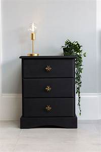 Not, For, Sale, Example, Piece, Black, Painted, Wooden, Bedside