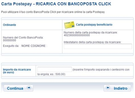 carta banco posta click conto bancoposta click carta di credito comparativo
