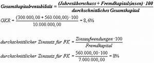 Zins Berechnen Formel : investitionsrechnung leverage effekt ~ Themetempest.com Abrechnung