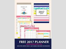 Free Planner 2017 Design a Life You Love
