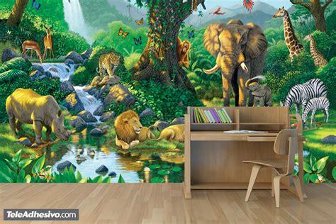 papier peint vinyle jungle harmony