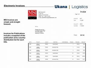 Logistics Company Invoice Sample