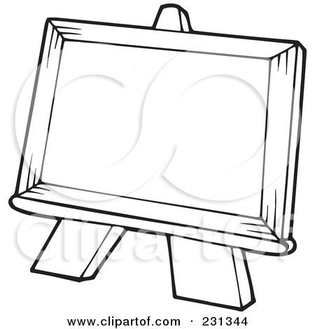 coloring page outline   easel posters art prints