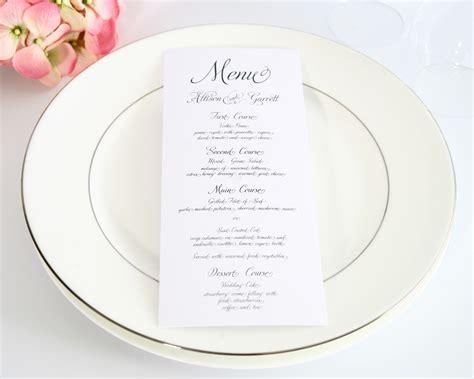 How To Choose Your Wedding Menu