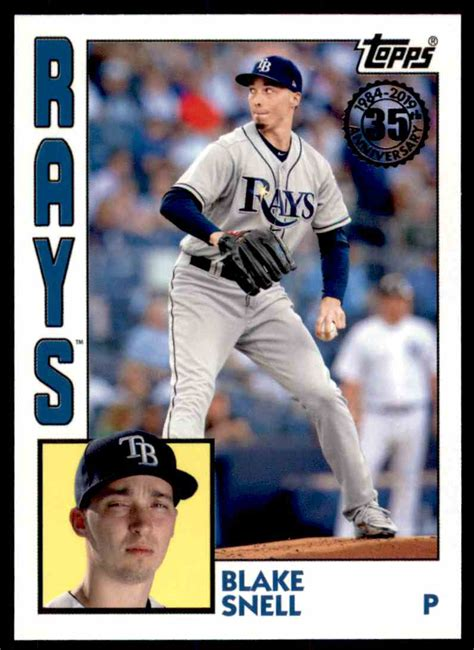 topps  design card blake snell tampa bay rays