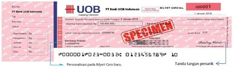 uob indonesia pengumuman pemberlakuan bilyet giro