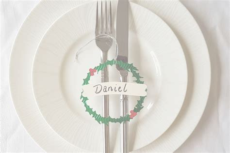 Christmas Place Card Svg  – 63+ SVG File for Silhouette