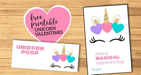 Free Printable Unicorn Valentine Cards | Paper Trail Design