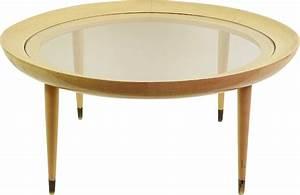 Table Ronde Verre Et Bois : table basse ronde vintage en bois verre et laiton 1950 design market ~ Teatrodelosmanantiales.com Idées de Décoration