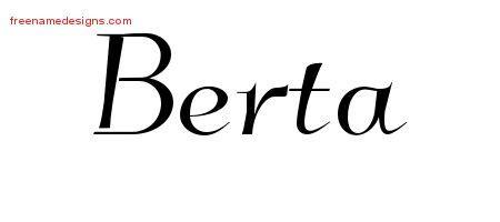 berta template elegant name tattoo designs berta free graphic free name