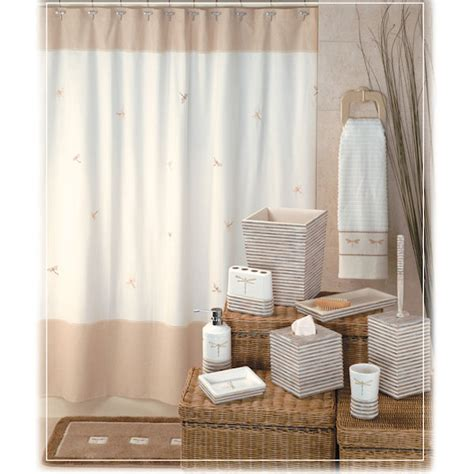dragonfly shower curtain bath accessories by creative