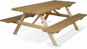 Table Bois Exterieur : table de pique nique team burger tables de jardin tables chaises bancs mobilier de ~ Teatrodelosmanantiales.com Idées de Décoration