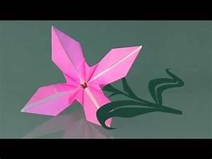 Faire Des Origami : une fleur in papier comment faire origami youtube ~ Nature-et-papiers.com Idées de Décoration