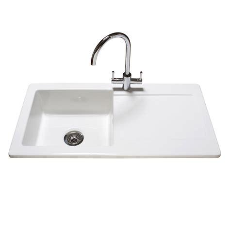 Reginox Contemporary White Ceramic 1 0 Bowl Kitchen Sink