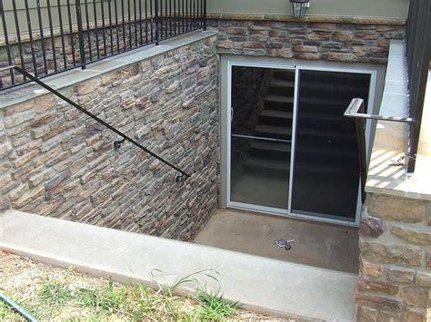 Doors Inspiring Basement Entry Doors Adding An Exterior