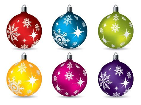 colorful christmas ball ornaments vector free vector