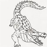 Crocodile Coloring Scary Advanced Printable Adults 101coloring sketch template