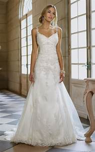 a line wedding dress with lace straps naf dresses With lace strap wedding dress