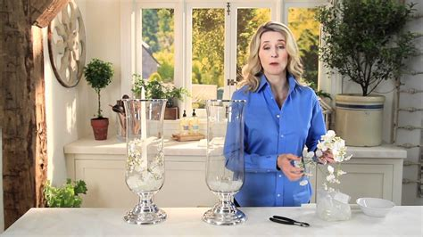 home décor how to create beautiful displays with orchids hurricanes pottery barn youtube