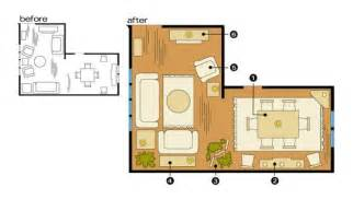 floor l placement how to optimize typical rental layouts the l shaped living dining area apartment therapy