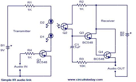 Simple Audio Link Electronic Circuits Diagrams