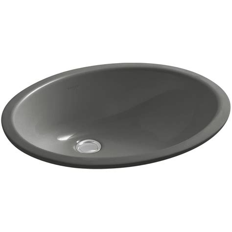 kohler thunder grey sink kohler caxton vitreous china undermount bathroom sink with
