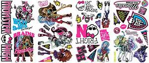 new monster high wall decals girls bedroom stickers pink With monster high wall decals for girl