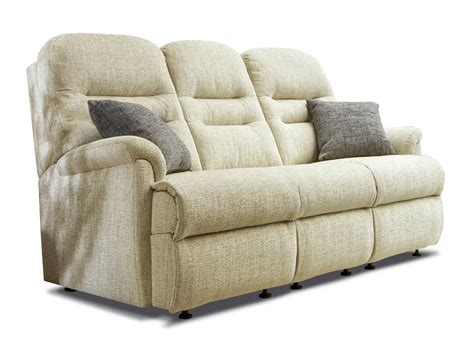 3 Seater Settees by Keswick Small Fabric Fixed 3 Seater Settee Sherborne