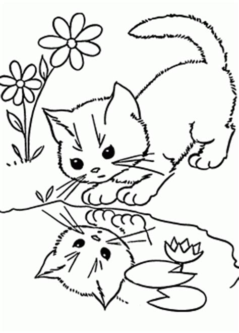 Cat coloring pages for kids prinable free cat printables